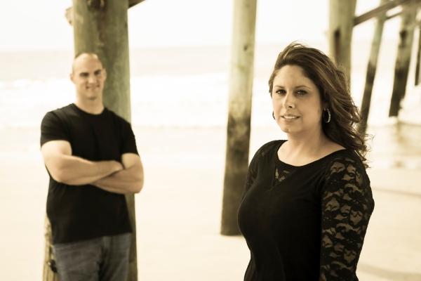 engagement photo session at Oak Island with Jesse stephenson Photography