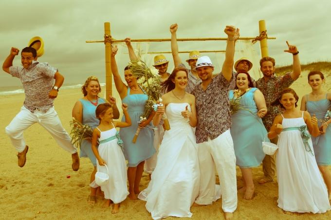 Ft. Fisher wedding Bluewater reception Tyler & Cody beach wedding with Jesse Stephenson Photography
