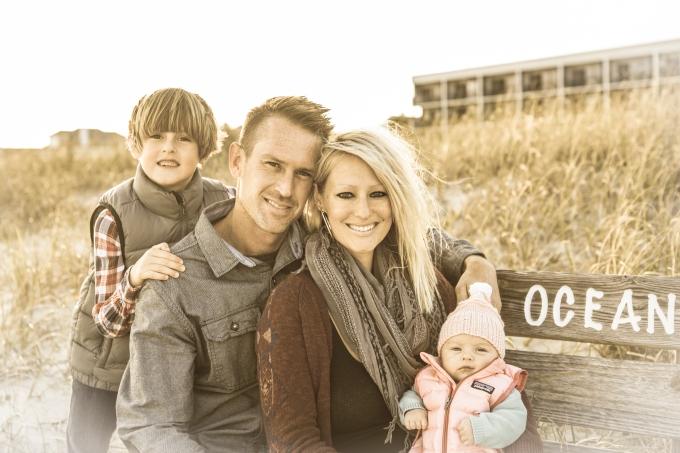 Jesse Stephenson Photography, family photo session, Wrightsville Beach, Crystal Pier, The Oceanic, DJ Struntz